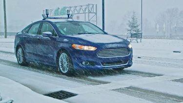 Ford tester selvkørende biler i vinter sneen (Foto: Ford)