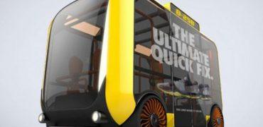 Minibus i Berlin får 3 robotlove