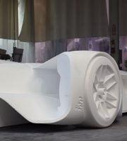 Roborace 3D printet racerbil