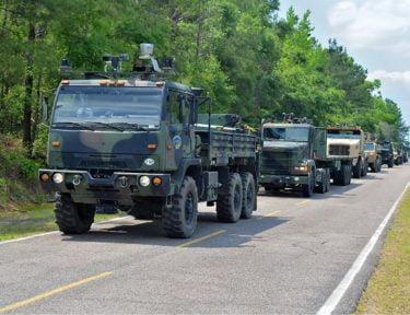 Selvkørende militærkøretøj
