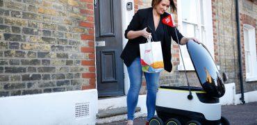 JustEat indsætter små selvkørende varevogne i London