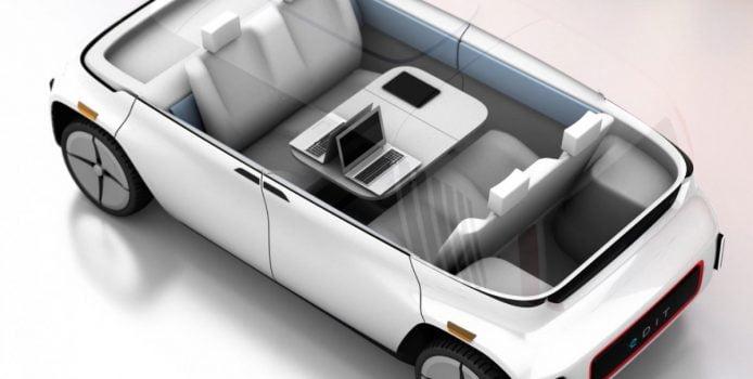 Sådan kan kabinen i en selvkørende bil komme til at se ud