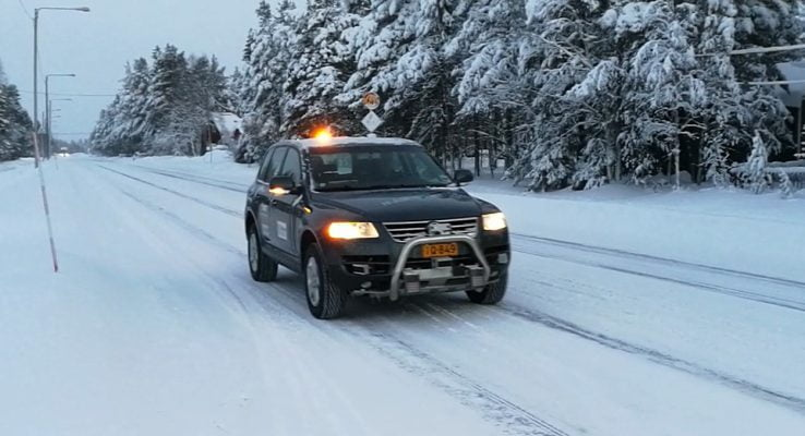 Martti selvkørende bil i sne
