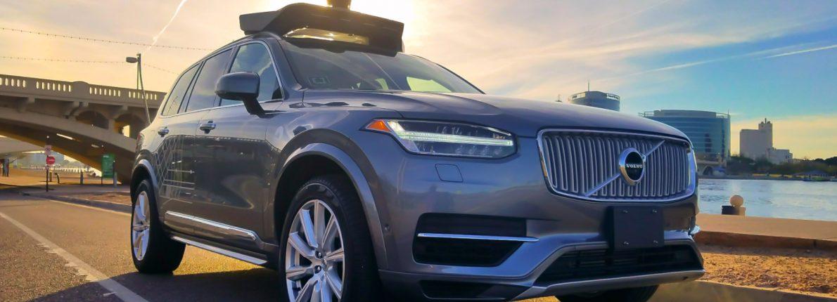 Uber Volvo selvkørende bil i San Fransisco
