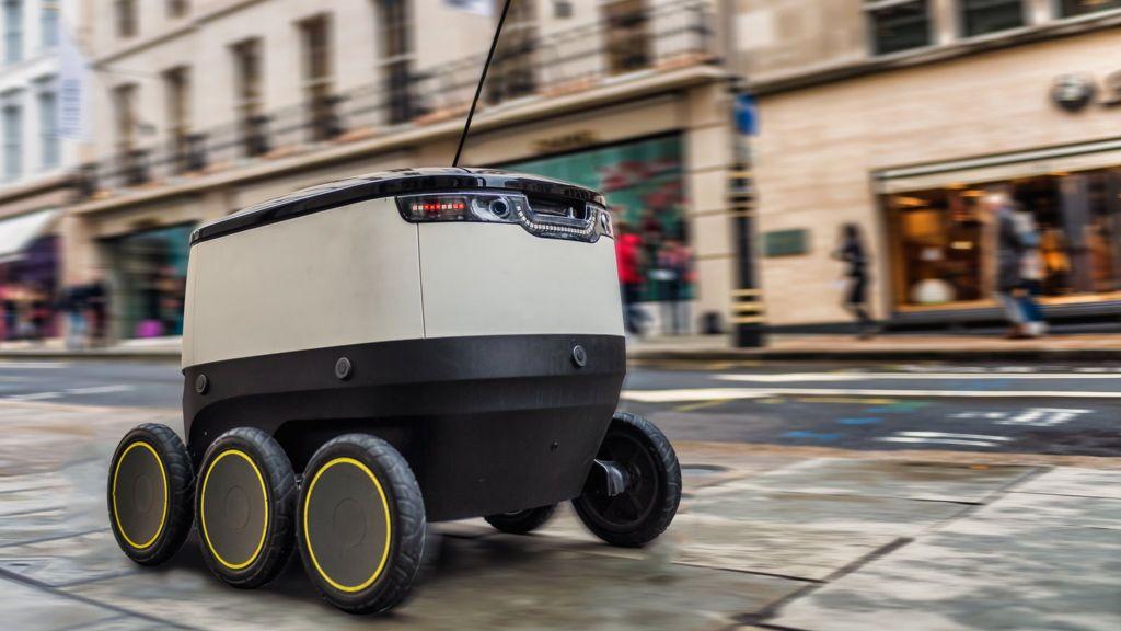 Færdselsloven ændres for små selvkørende robotter