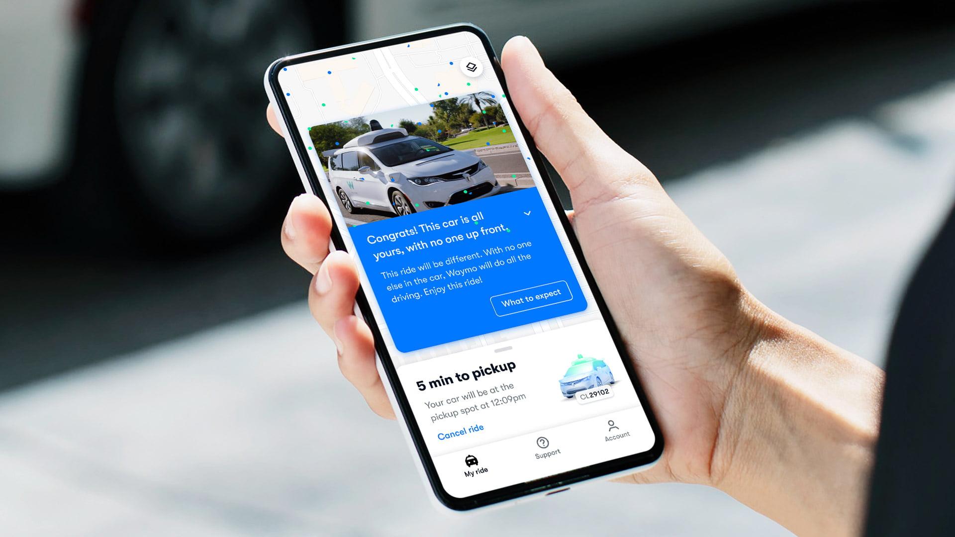 Waymo selvkørende bil App